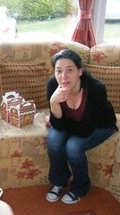 Nina in Newcastle (sean and nina) Tags: nina woman female girl lady girlfriend fiancee wife married brunette dark hair brown eyes pink lips gorgeous stunning charm charming beauty beautiful amazing serb newcastle county donw caravan indoor inside seated sitting blue jeans denim black cardigan red tee shirt trainers easter window hand arm face neck throat bare skin pose posed posing people person