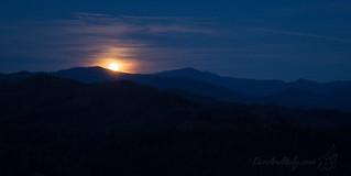 Moon rise over the Smokies