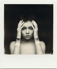A. (denzzz) Tags: portrait polaroid impossibleproject polaroidoriginals 600bw instantfilm analogphotography filmphotography blackwhite blackandwhite skancheli slr680