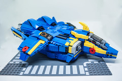 General Galaxy YF-21 Omega One (kuyaaids) Tags: macross yf21 variable fighter blue