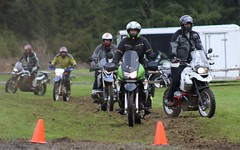 Me trying to be an off-road rider (jcravens) Tags: motorcycles motorcyclist offroad mud class clinic woman motorcyclists adv adventure training female kawasaki