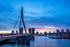 Erasmus bridge at night (vincentmullenders) Tags: rotterdam erasmusbrug erasmus erasmusbridge longexposure sunset sonyalpha sony holland netherlands