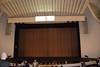 inside the Auditorio de Tenerife Adán Martín (with an ad for the next production) (Paul and Jill) Tags: canaryislands tenerife santacruzdetenerife auditoriodetenerife santiagocalatrava stage orchestrapit