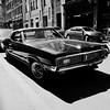 Pas facile de se fondre dans la foule... (woltarise) Tags: voiture américaine vieuxmontréal montréal notredame rue ricohgr mercurycougar