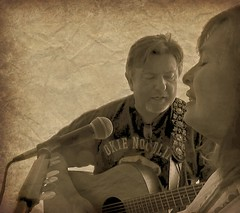 MVI_4794_Mo11ment.101 (maj488/mike) Tags: noodling okie sepia singer singing sing song married couple guitar martin music