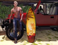 Lifes a Beach (CodyAdored) Tags: legal insanity second life male fashion virtual reality