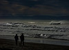 The Cold Seas (Steve Taylor (Photography)) Tags: walking couple dog muted people newzealand nz southisland canterbury christchurch newbrighton ocean pacific sea waves surf walkingthedog