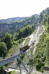 funicular railway Schwyz - Stoos Switzerland (roli_b) Tags: funicular railway schwyz stoos bahn swtizerland schweiz suisse suiza standseilbahn steil steilste welt weltrekord train tren seilbahn 2018