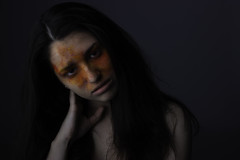 Can you see me? (Ariadny Fragos) Tags: model studio lowkey emotive creativemakeup