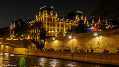 Paris by night (MarcEnGalerie) Tags: préfecturedepolicedeparis longexposure balade poselongue nightly seine nocturnal nocturne paris iledefrance france fra