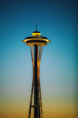 Sunsets and Seattle (Thomas Hawk) Tags: america seattle spaceneedle usa unitedstates unitedstatesofamerica washington washingtonstate sunset fav10 fav25 fav50 fav100
