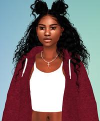 blkfleur. (tillatyla) Tags: sims 4 create sim cas virtual melanin baddie natural hair