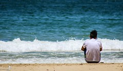 At The Edge Of The World (Zaheer Baksh Photography) Tags: discover caribbean beach photography island life zbp islandlife trinidadandtobago trinidad lascuevas sand shore sea waves teens teenager boys edge blue travel traveldestination lonely zaheerbakshphotography