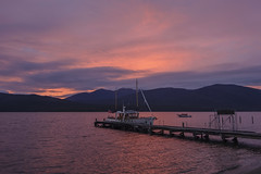 Lago Te Anau. (Victoria.....a secas.) Tags: nuevazelanda lago lake atardecer sunset