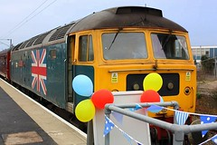 What a Welcome at Harwich (Chris Baines) Tags: 47580 mayflower railtour harwich town essex
