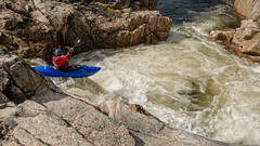 No turning back... (L A H Photography) Tags: canoeist action water rapids scotland rugged flowing rocks waterfall outdoor colourful g80 contrast canoe glenetive river sport rock