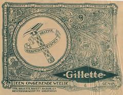de stad Amsterdam 1923 adv Gilette. b (janwillemsen) Tags: advertising amsterdam 1923 magazineillustration