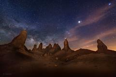 Desert Night (buiTchuong) Tags: milkyway nightscape stars desert californialandscape sand rocks trona pinnacles