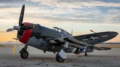 """ JUG "" P-47G Thunderbolt (live2aviate) Tags: 4225254 p47g15cu planesoffame curtiss republic p47gthunderbolt sunrise dawn california chino fightercollection"