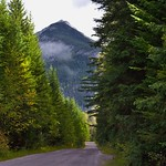 Down the Gravel Road and a Mountain Peak Ahead (Yoho National Park) thumbnail