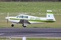 OY-DDL  - 1965 build Mooney M.20C Mark 21, arriving on Runway 24 at Friedrichshafen during Aero 2017 (egcc) Tags: 2920 aero aerofriedrichshafen aerofriedrichshafen2017 bodensee edny fdh friedrichshafen lightroom m20c mark21 mooney n79805 oyddl sorensen