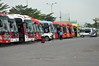Where the buses wait (Roving I) Tags: waiting holdingarea buses coaches publictransport busstations terminal drivers luggage parking danang vietnam