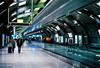 Frankfurt airport train station (mkk707) Tags: zeissikoncontaflexiii zeissikonstyle carlzeisstessar50mmf28 35mmfilm film analog kodakportra800 wwwmeinfilmlabde vintagelens vintagefilmcamera germancameras frankfurtammain germany