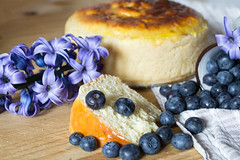 It's Springtime! (raffaella.rinaldi) Tags: food italian easter pagnotta romagna flower blue berries blueberries cake sweet spring violet cooking homemade country