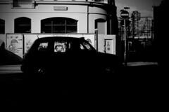 IMG_3765 (JetBlakInk) Tags: art silhouette subframe subject2ground transport lowkey juxtaposition streetphotography lightandtone taxi composition signage streetscene streetsign londonblackcab blackcab