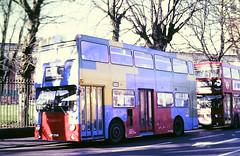 Slide 115-56 (Steve Guess) Tags: london transport buses daimler fleetline dms lambeth playbus brixton england gb uk dms259 jgf259k