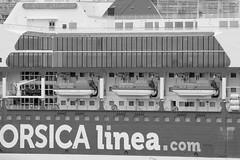 Chaloupes connectées (ZUHMHA) Tags: marseille france window reflet reflection glass vitre boat bateau chaloupe line lignes courbes curve geometry géométrie letter lettre mot word sign texte text écriture monochrome fence barrière grille grillage gardefou