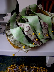 WORK READY (Patchwork Daily Desire) Tags: quilting quilt drunkards flower fabric crafts cozy patchwork cut binding batting blocks block curved stitches