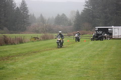 Riding wet grass for the first time (jcravens) Tags: motorcycle bikes motos offroad clinic class gravel wet grass mud bmw klr usa washington pnw