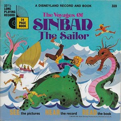 Sinbad Book And Record ( Disney 1980 ) (Donald Deveau) Tags: disney disneyland disnyana sinbad record book bookandrecord vinyl