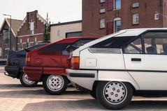 Citroën BX 16 TZI Aut. / 19 TRS Aut. / 19 GT (Skylark92) Tags: nederland nehterlands holland zuidholland southholland vlaardingen haven harbour citroen bx photoshoot tonemapped citroën 19 trs automatic tf40zr 1988 car road gt 1985 07kxp5 sky drhg22 1992 16 tzi