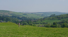 Climb every mountain, ford every stream... (Blue sky and countryside) Tags: walking hills stoney middleton peak district national park england pentax sunny exercise healthy fit