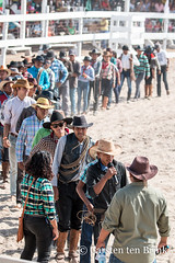 Lethem Easter Rodeo - line up and introduce yourself and your ranch (10b travelling / Carsten ten Brink) Tags: carstentenbrink 10btravelling 2018 americas brasil brazil brazilian easter guiana guyana iptcbasic latinamerica latinoamerica lethem rupununi rupununiranchersrodeo2018 sabana southamerica takuturiver annual border cmtb cowboys ranchers rodeo savannah tenbrink