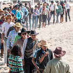 Lethem Easter Rodeo - line up and introduce yourself and your ranch thumbnail