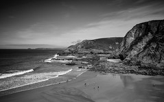 Cove Life (Lloyd Austin) Tags: nikon d7200 sigma1750mm seaside monochrome mono blackwhite blackandwhite bw bnw cloudscape clouds sky landscape land people cliffs rocks coastal coast coastline ocean atlanticocean seascape sea water sand beach england cornwall trevaunancecove covelife