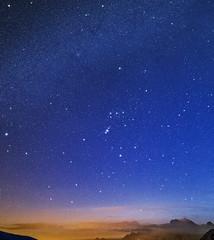 Alive again (Robyn Hooz) Tags: giau dolomiti dusk orion orione cielo costellazioni sigh blue hint stelle constellations taurus ries ram sirius dog