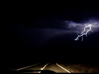 On A Stormy Desert Road