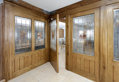 Venables complete project - historic Inn (VenablesOak) Tags: oak venables inn traditional country bespoke wood panelling windows solidwood doors bar pub stainedglass leadedglass joinery