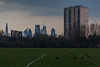 Hackney Marshes (Gary Kinsman) Tags: birds crows canon70300mm zoom telephoto compression eastmarsh london eastlondon hackneymarsh canoneos5dmarkii canon5dmkii leevalleypark empty open bleak footballpitch fields goalposts skyline urban distant hackney nowhere unplace banal topographics newtopographics 2018 urbanlandscape storm dark clouds overcast space hackneymarshes e5 cityoflondon skyscraper highrise tower theshard shardlondonbridge 52limestreet thescalpel gherkin 30stmaryaxe 122leadenhallstreet leadenhallbuilding herontower tower42 socialhousing councilestate claptonparkestate landmarkheights cranes construction