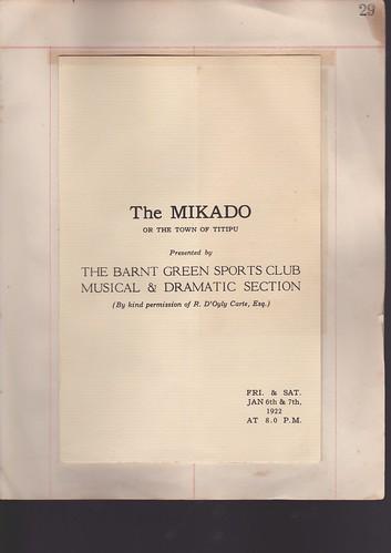 1922: Jan Programme 1