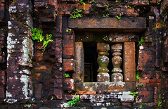 my son sanctuary ruins, vietnam (bobinskiii) Tags: vietnam asia asian southeastasia southeastasian hoian building buildings structure architecture outside exterior outdoors unesco unescoworldheritagesite old historicmyson ruin ruins remains ancient window brown