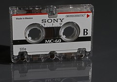 Microcassette _8451 (Barrie Wedel) Tags: macro macromondays hmm memorylane plastic backintheday cassette tapes micro audio retro