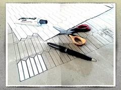 Atelier collage (ginetton1) Tags: diy soufflet folding ginette2 fabrication traçage collage découpe paper papier kraft