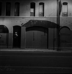 Late night traffic (ADMurr) Tags: la night chinatown rolleiflex 35 e zeiss planar ilford 125 cbc642