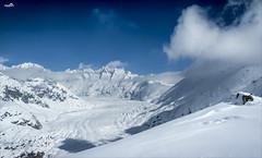 Aletsch Glacier (VandenBerge Photography #goneforawhile) Tags: unescoworldheritage aletsch alps glacier switzerland valais nature sky canon clouds cantonberne season snowscape skyscape snow blue mountains nationalgeographic europe