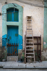 Havana Day 3 Morning Walk 77.jpg (Wits End Photography) Tags: entry rungs cuba doorway multicolored entrance portal ladder objects rusty colors corrosion opening corroded decay street rust structure door colorful color blue places streetphotography travelphotography building people patina architecture oxidized havana bars oxidation metal
